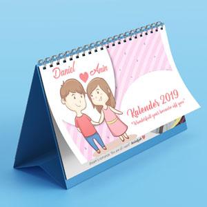 desain dan cetak Kalender Couple