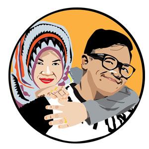 Desain Wajah Kartun Vector BSD Jakarta